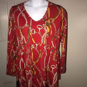 Tops - Beautiful red relaxed top